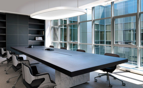 SOFT SQUARE LIGHT + ACOUSTIC meeting room